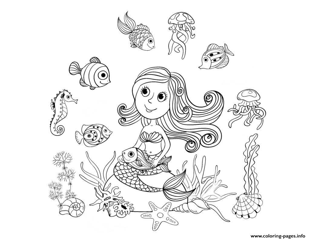 free printable coloring pages for adults mermaids