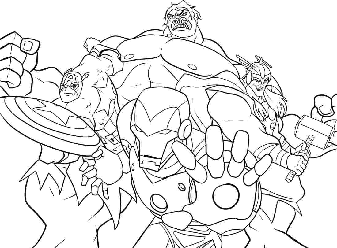 Avengers Coloring Pages Pdf : Superhero avengers colouring pages printable kids boys