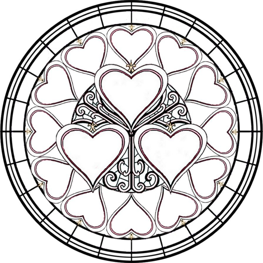 simple stained glass coloring pages - photo#1