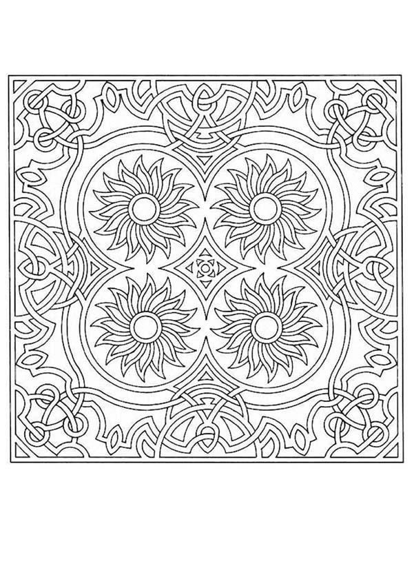 difficult mandala coloring pages - photo#29