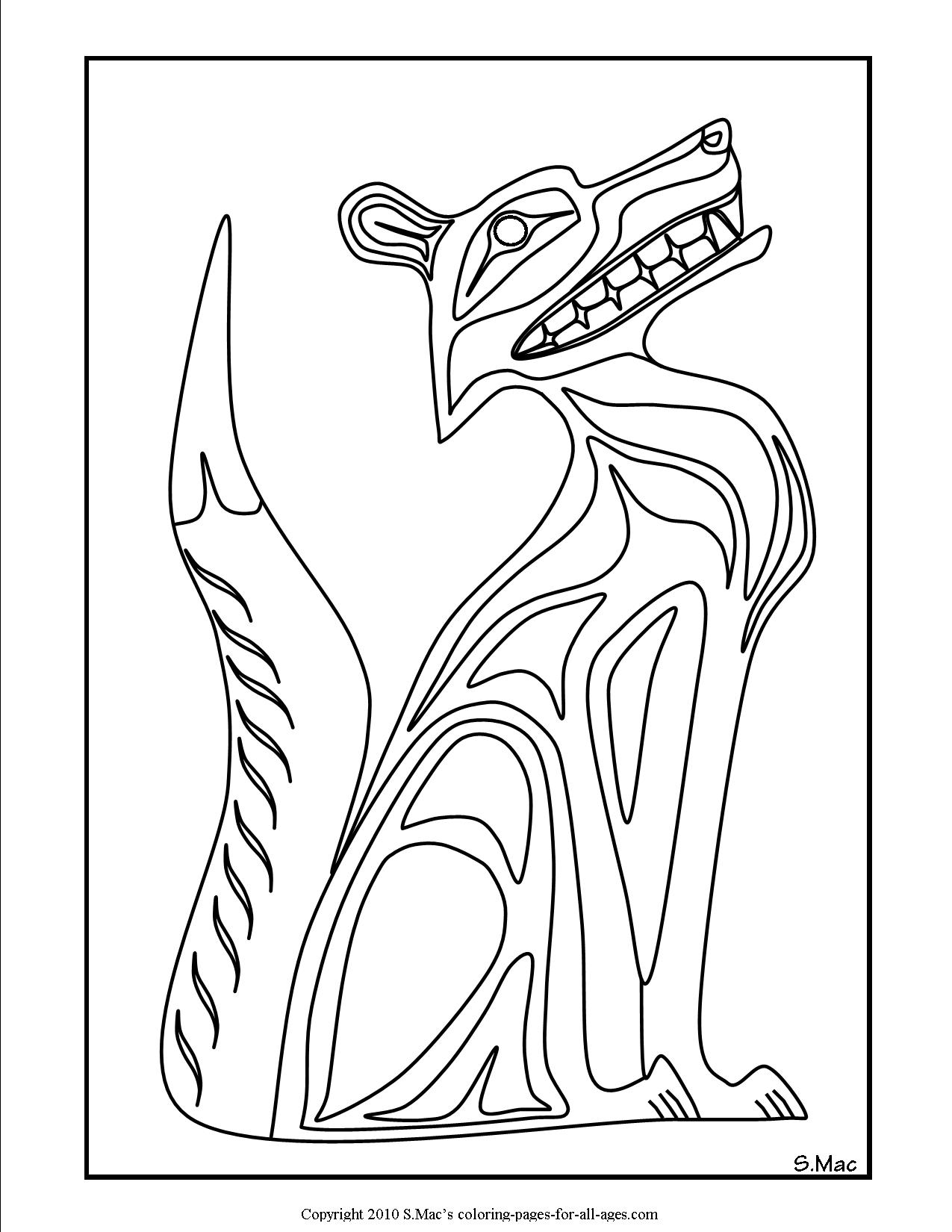 pacific northwest native american art coloring pages smacs