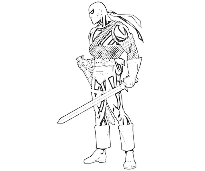 deathstroke coloring pages coloring home