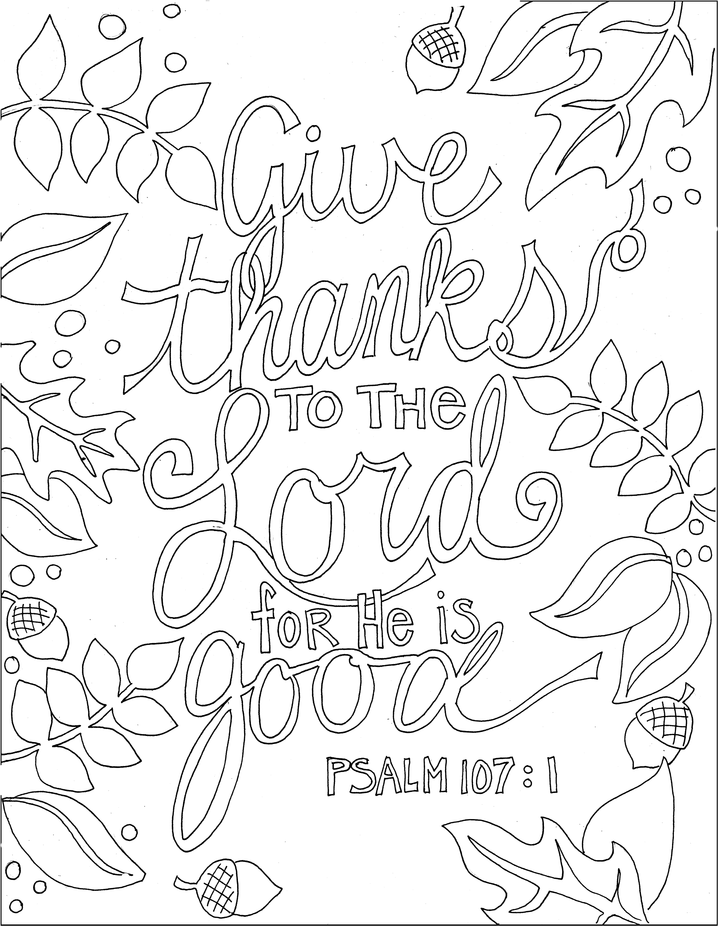 bible coloring pages thankfulness - photo#34