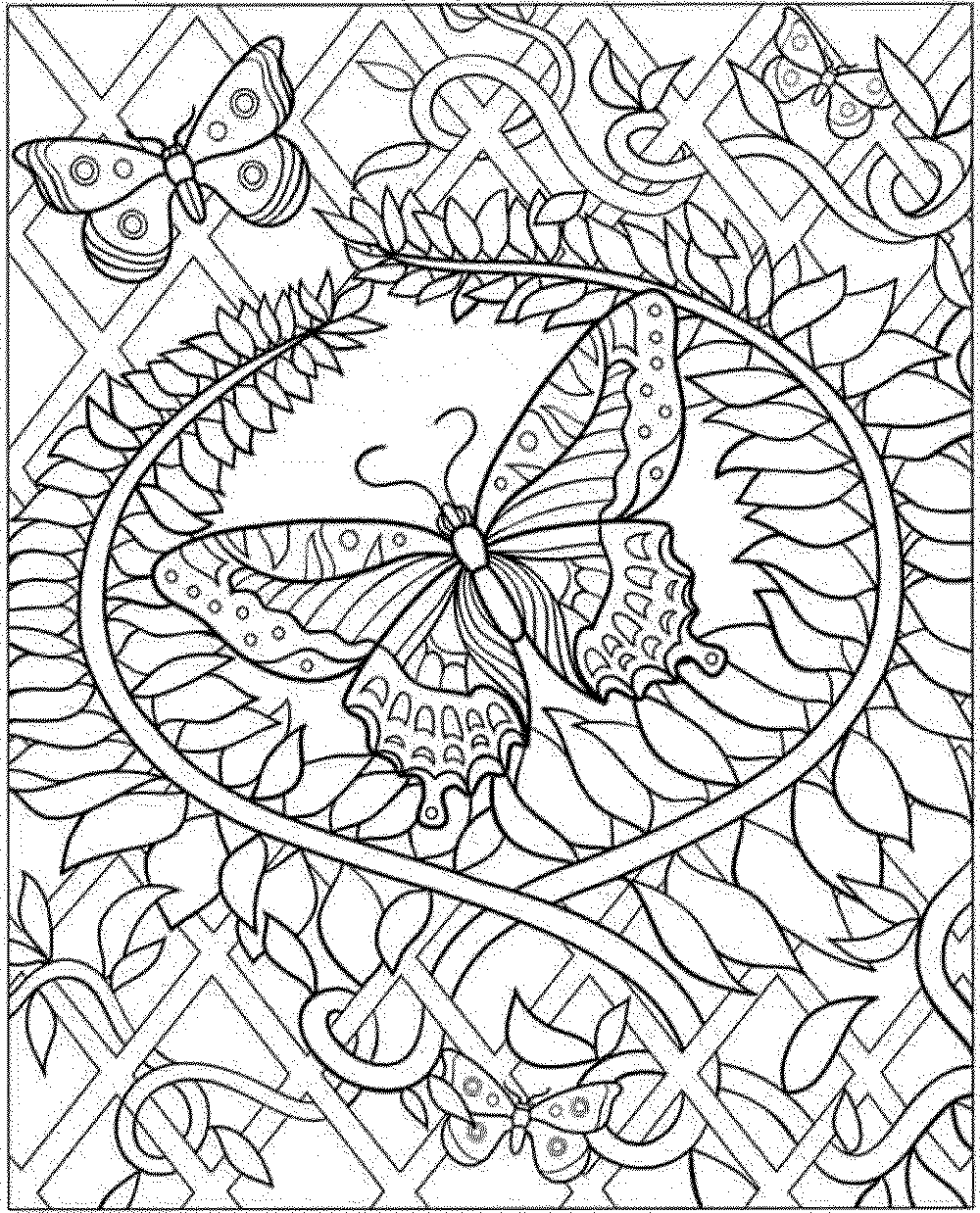 printable intricate coloring pages - photo#4