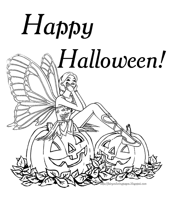 free barbie halloween coloring pages - photo#1