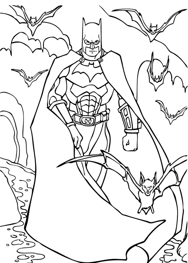 Printable Batman Coloring Pages - Coloring Home