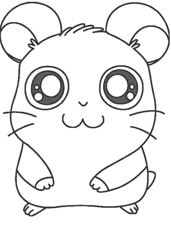 Printable Hamtaro The Hamster Coloring