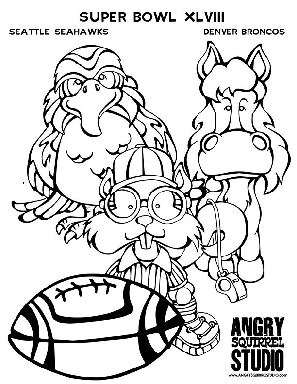 Denver Broncos Coloring Pages Printable Page 1