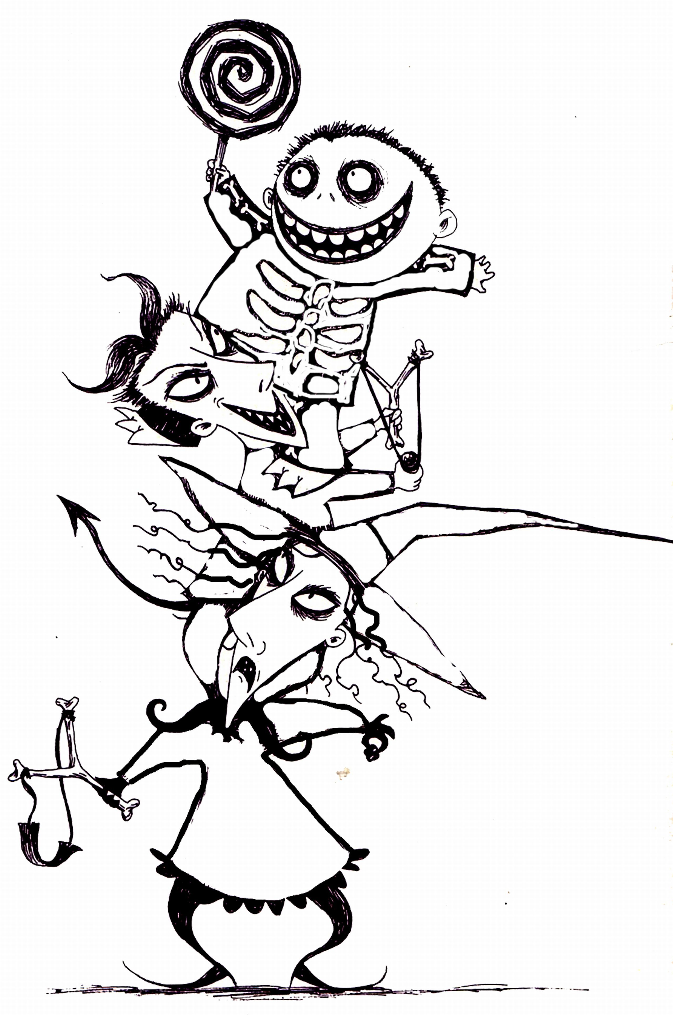 Coloring Book Picture Nightmare Before Christmas - Coloring ...