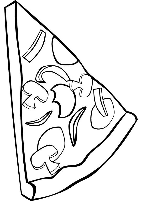 Delicious And Good Looking Pizza Coloring Pages