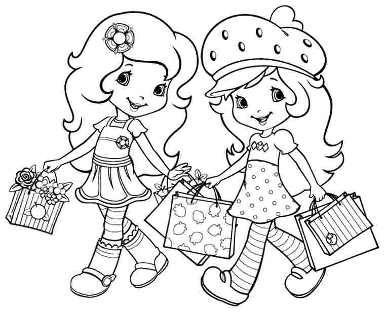 Strawberry Shortcake And All Friends Coloring Pages - AZ ...