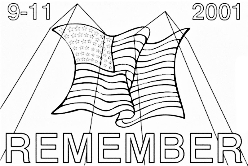 September 9 11 Coloring Page