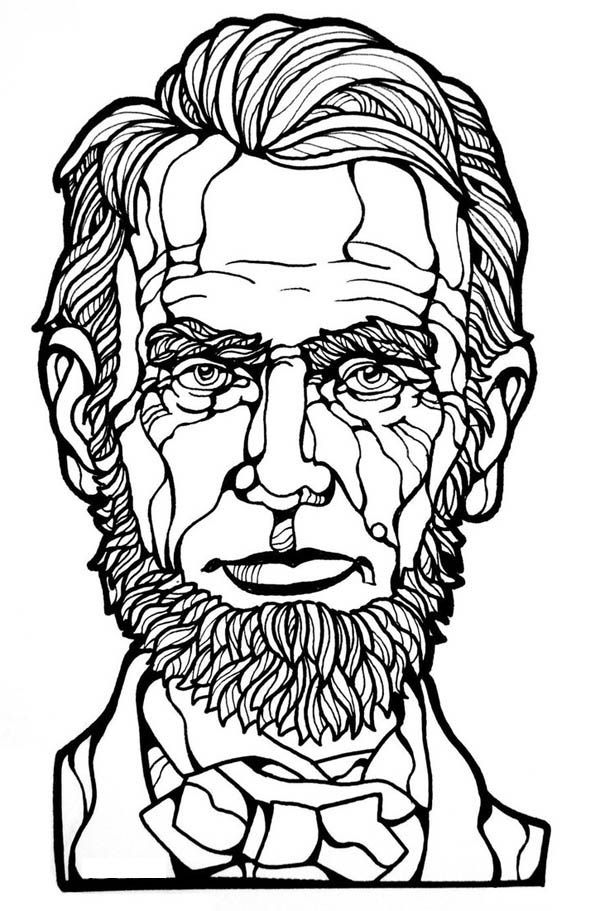 abe lincoln coloring pages printable - photo#14