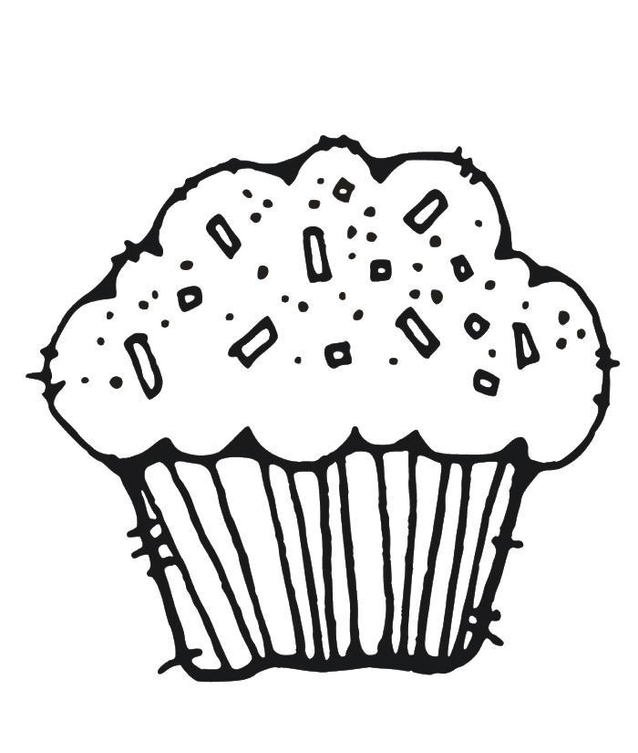 muffin coloring pages for kids - photo#7