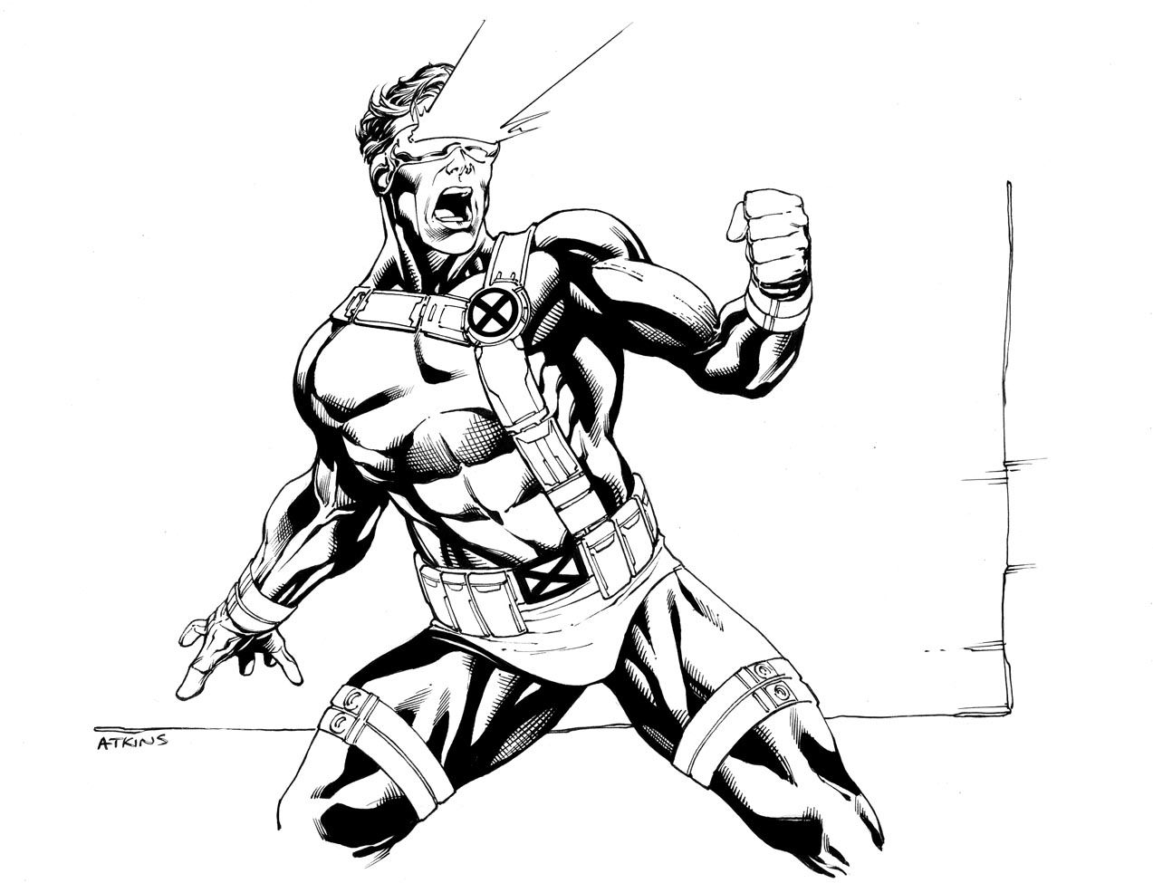 It is an image of Selective Xmen Coloring Pages