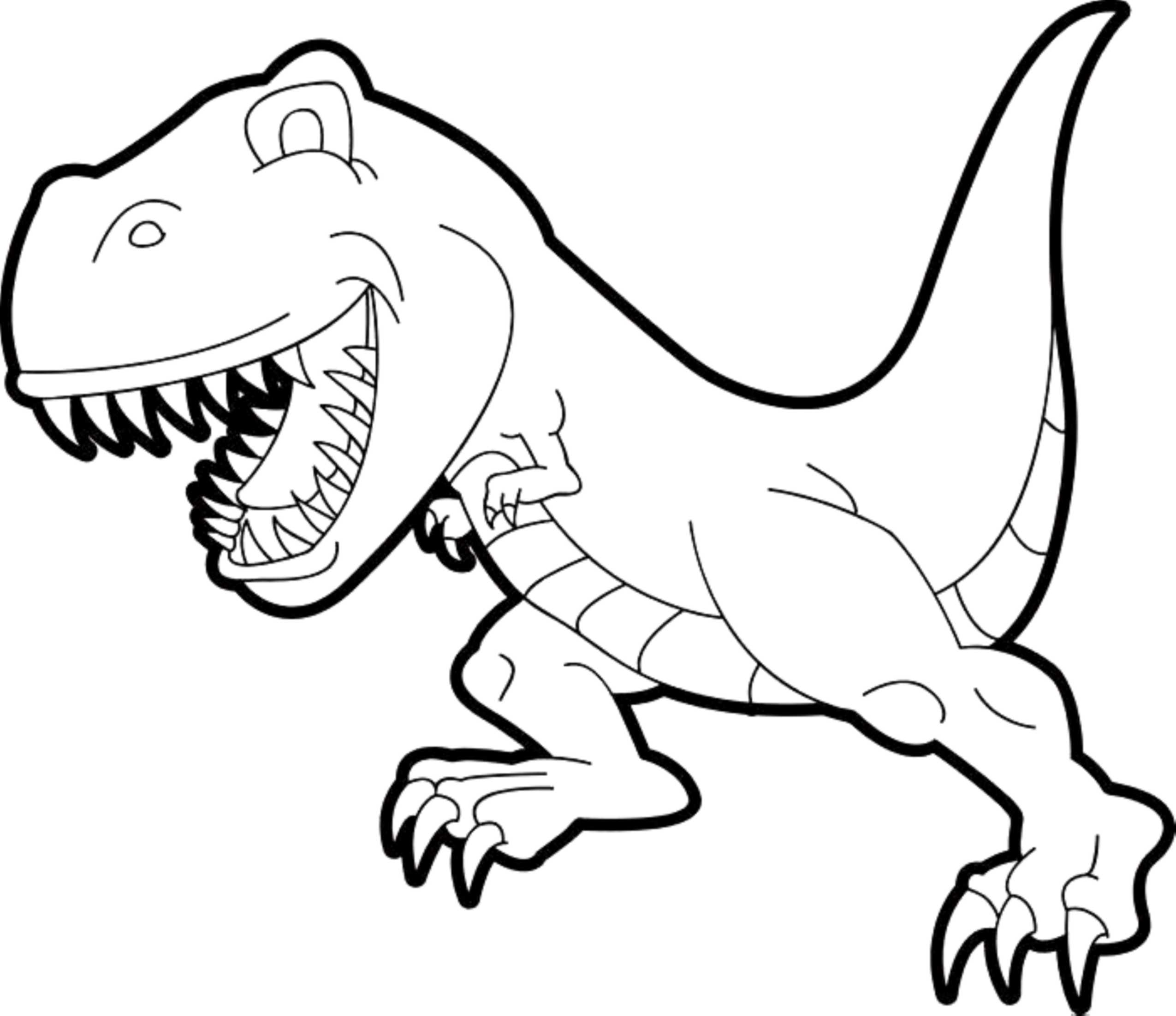 Cute T-rex Coloring Page