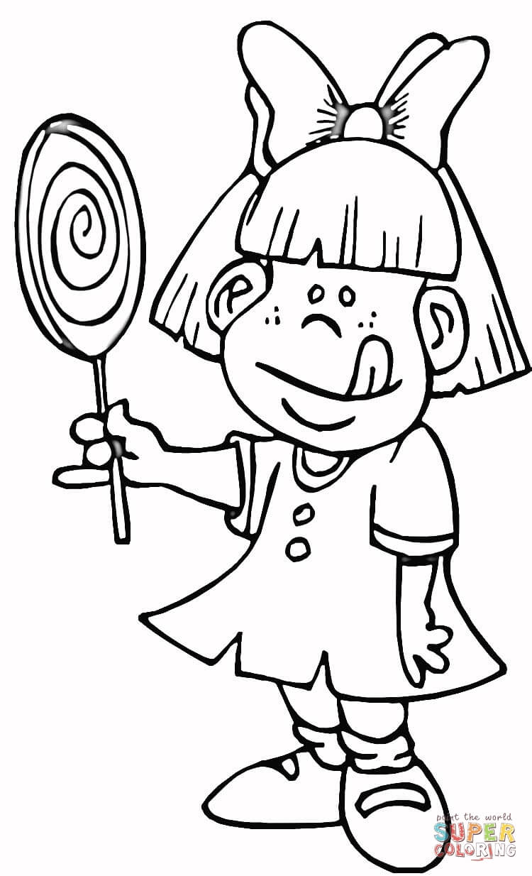 coloring pages lollipop coloring home