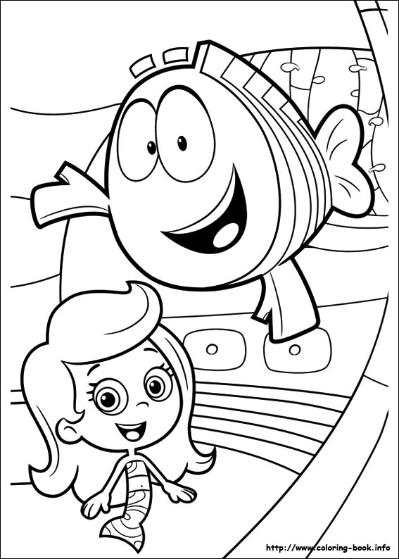 bubble guppies coloring page - Bubble Guppies Coloring Pages Goby