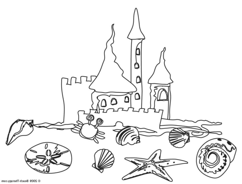 Coloring Pages Of A Beach Umbrella