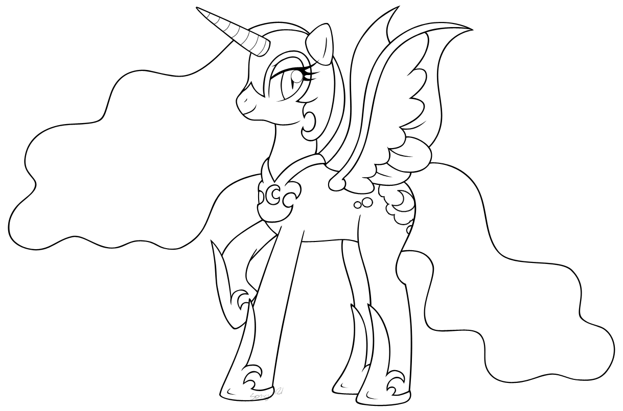Inked Nightmare Moon by MintyStitch on DeviantArt