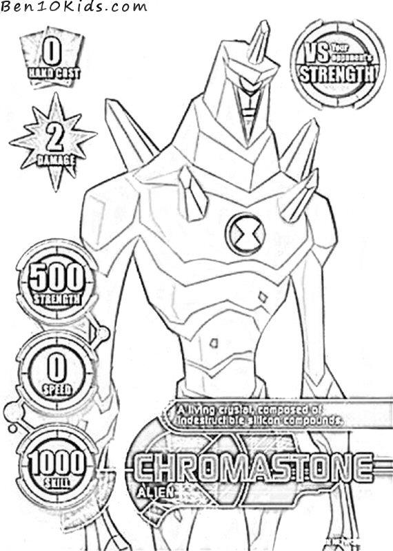 Chromastone Coloring Pages Coloring