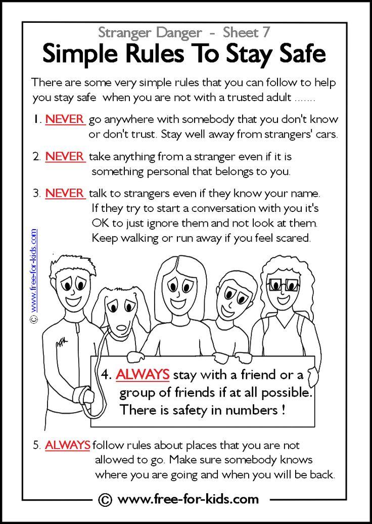 Stranger Danger Coloring Pages Coloring Home – Internet Safety Worksheets