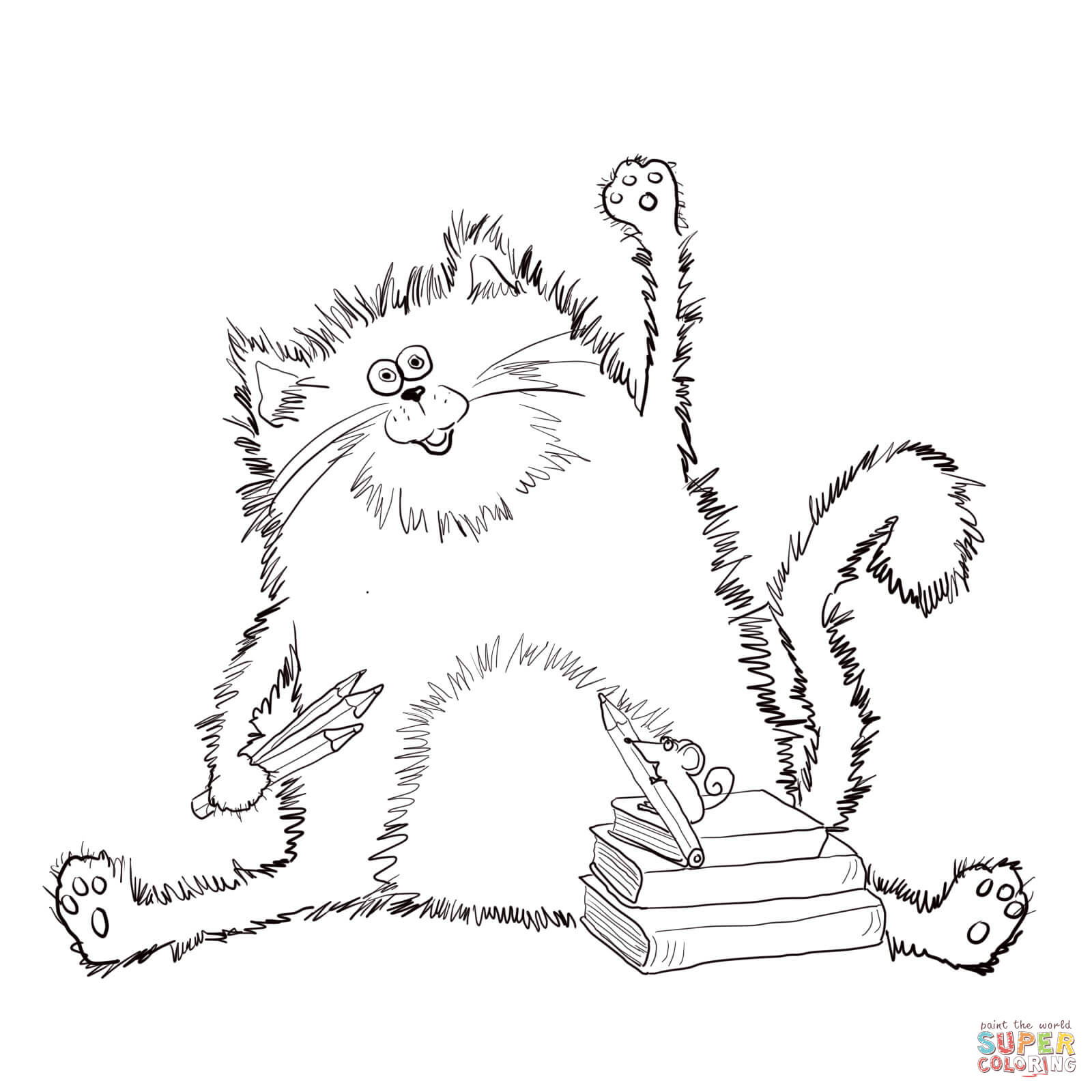 Splat the Cat coloring page | Free Printable Coloring Pages