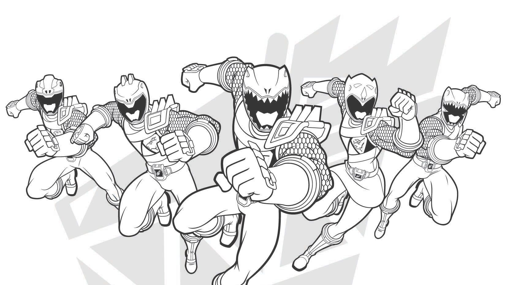 Power Rangers Samurai Coloring