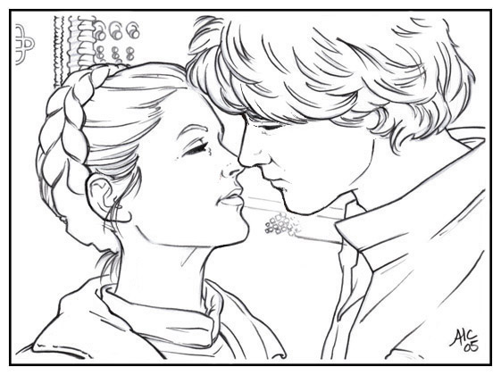 han and leia coloring page coloring home
