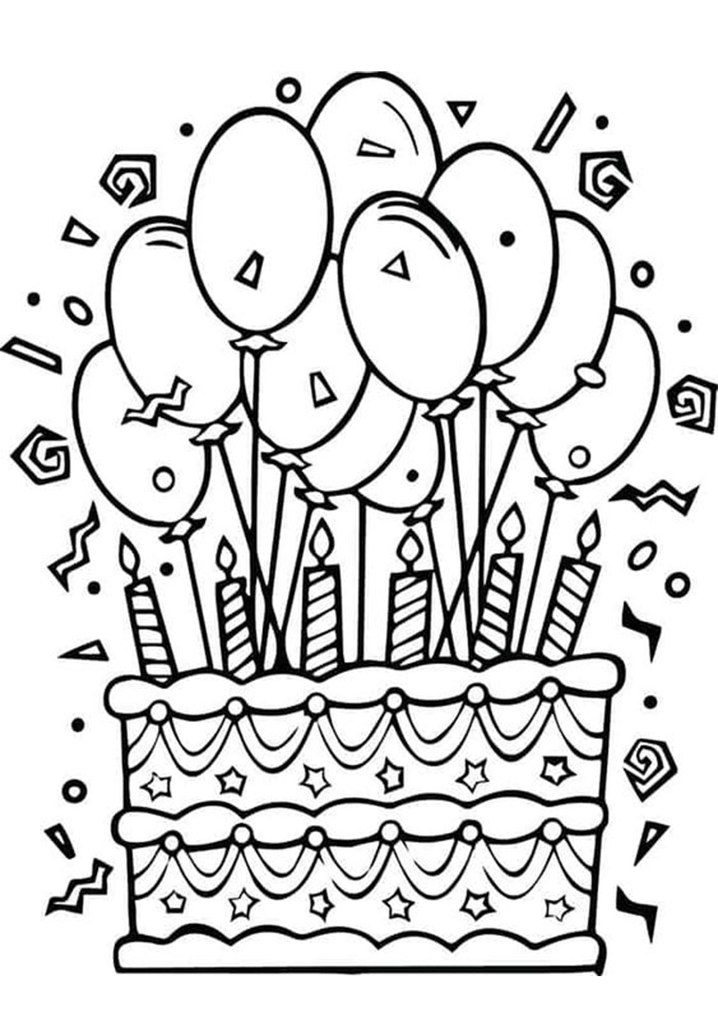 Happy Birthday Coloring Pages Free Easy To Print Tulamama Cake Printable  For Kids 16th – Slavyanka