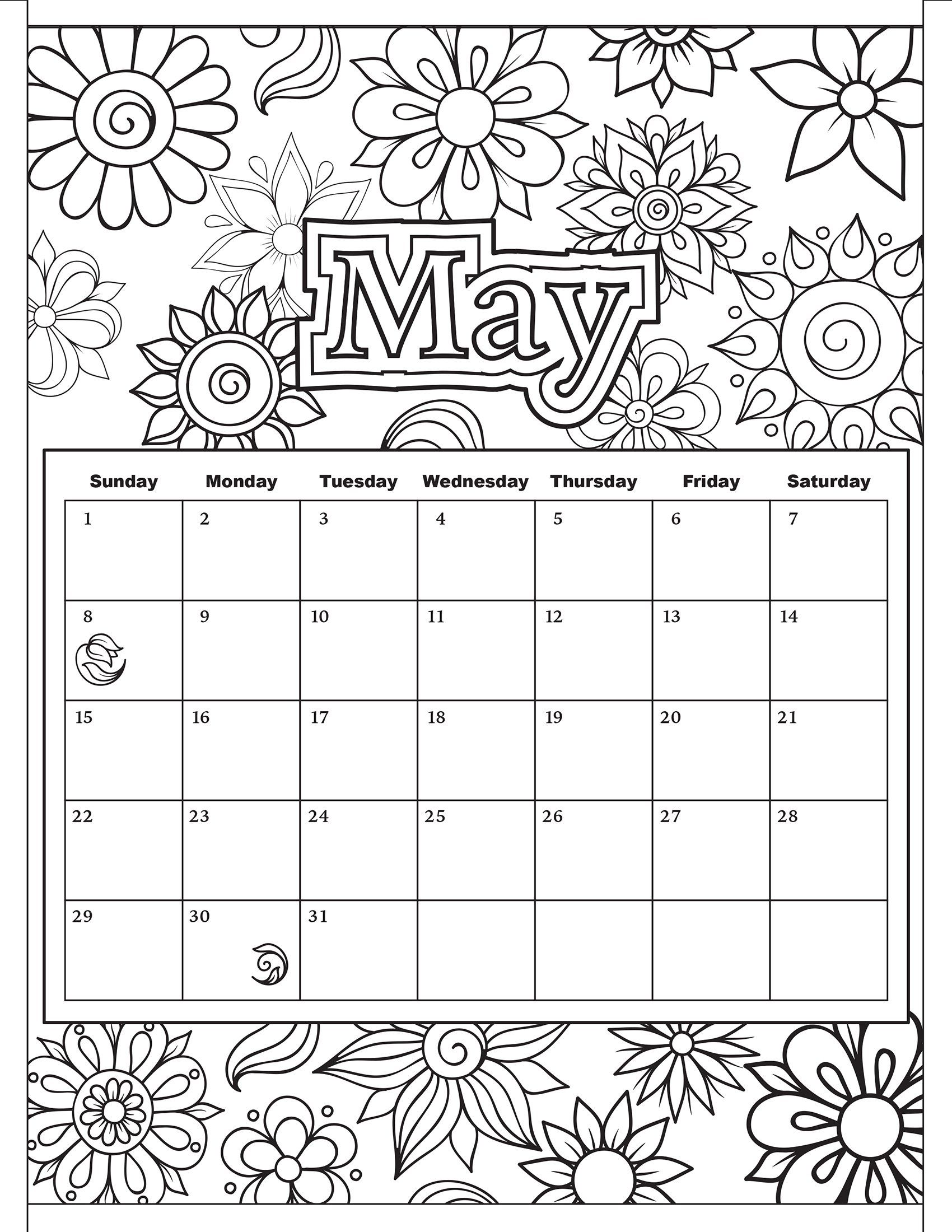Simple may coloring pages az coloring pages for May coloring pages printable