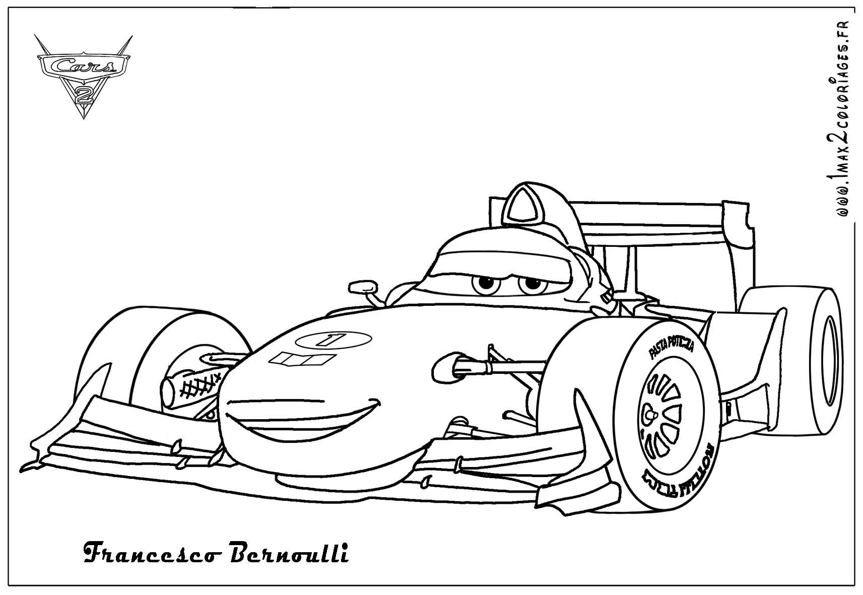 Cars 2 coloring pages - Cars 2 Francesco Bernoulli Coloring Pages Coloring Pics