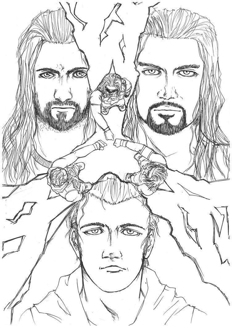 Roman Wwe Coloring BookWwePrintable Coloring Pages Free Download