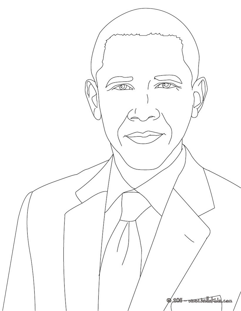 Barack Obama Coloring Page - Coloring Home