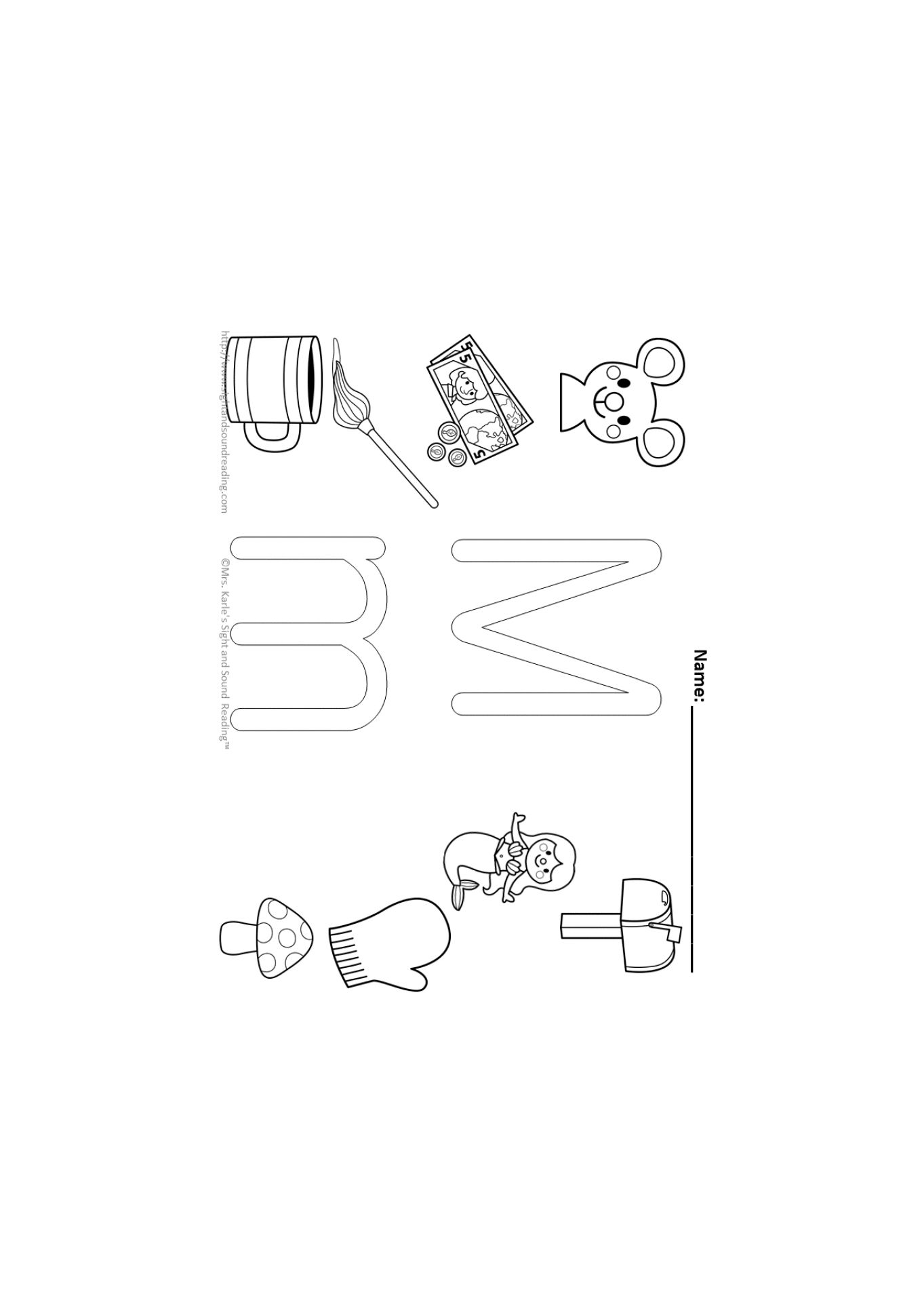 Stylish Letter M Coloring Pages Intended To Invigorate To