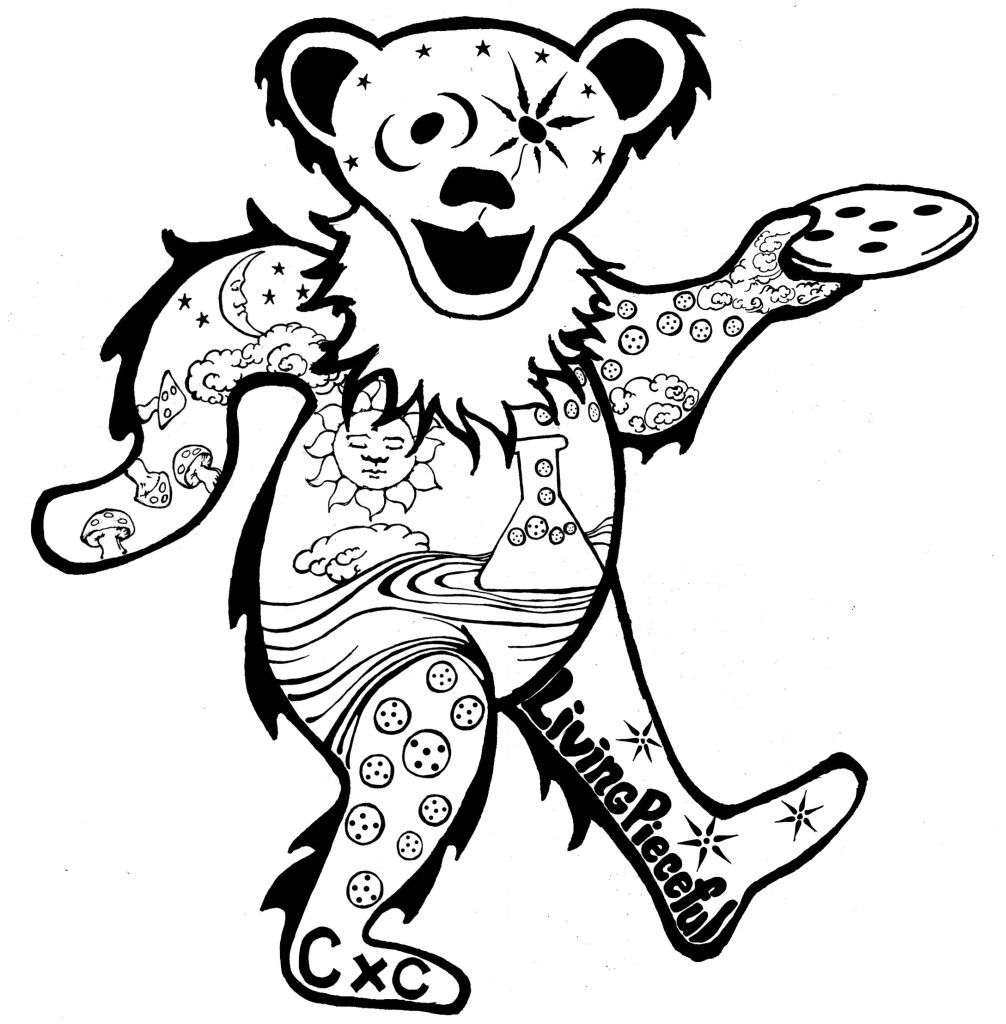 Grateful Dead Coloring Pages Coloring Home Grateful Dead Colorong Pages