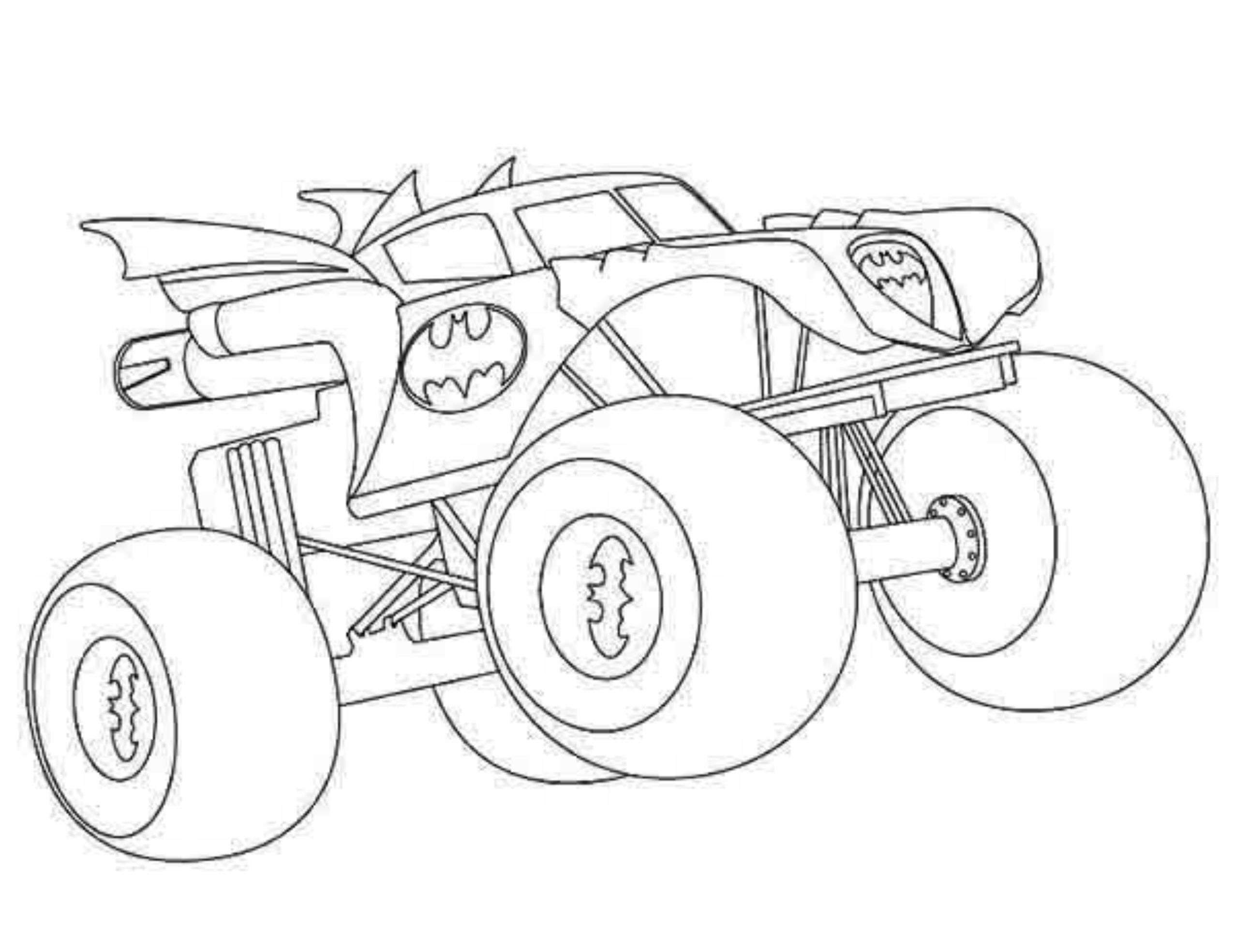 Free coloring pages trucks and cars - Free Monster Jam Monster Truck Coloring Pages With Monster Jam