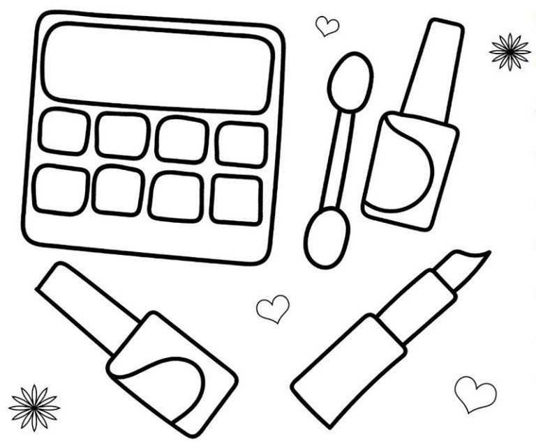 face makeup palette coloring page