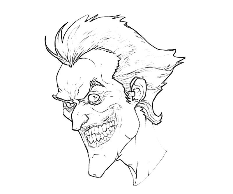 17 Pics Of Joker Arkham City Coloring Pages