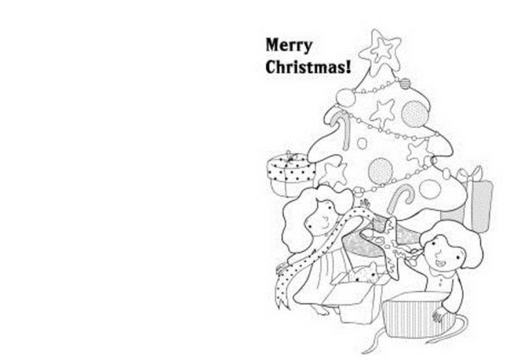 Christmas Card Coloring Pages Free