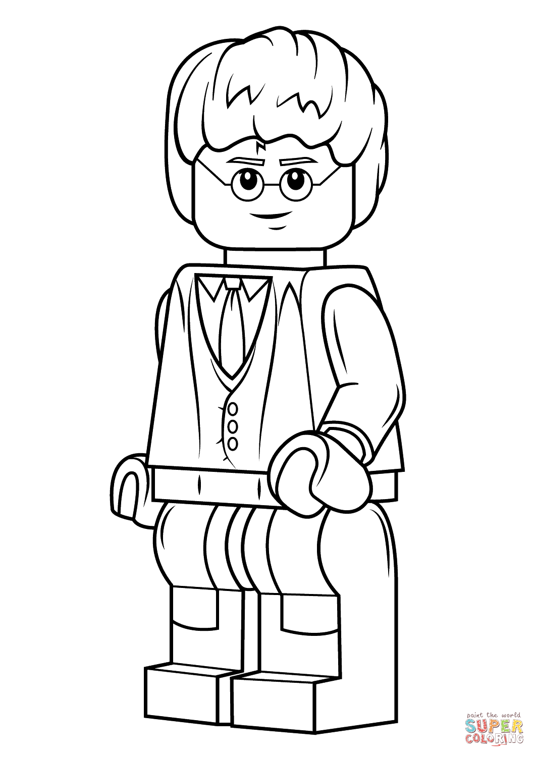 Harry potter coloring pages printable - Lego Harry Potter Coloring Page Free Printable Coloring Pages