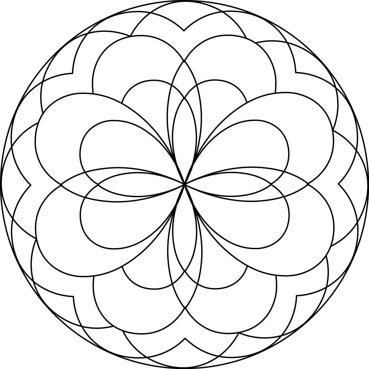 Free Mandalas Coloring Pages Kids Type