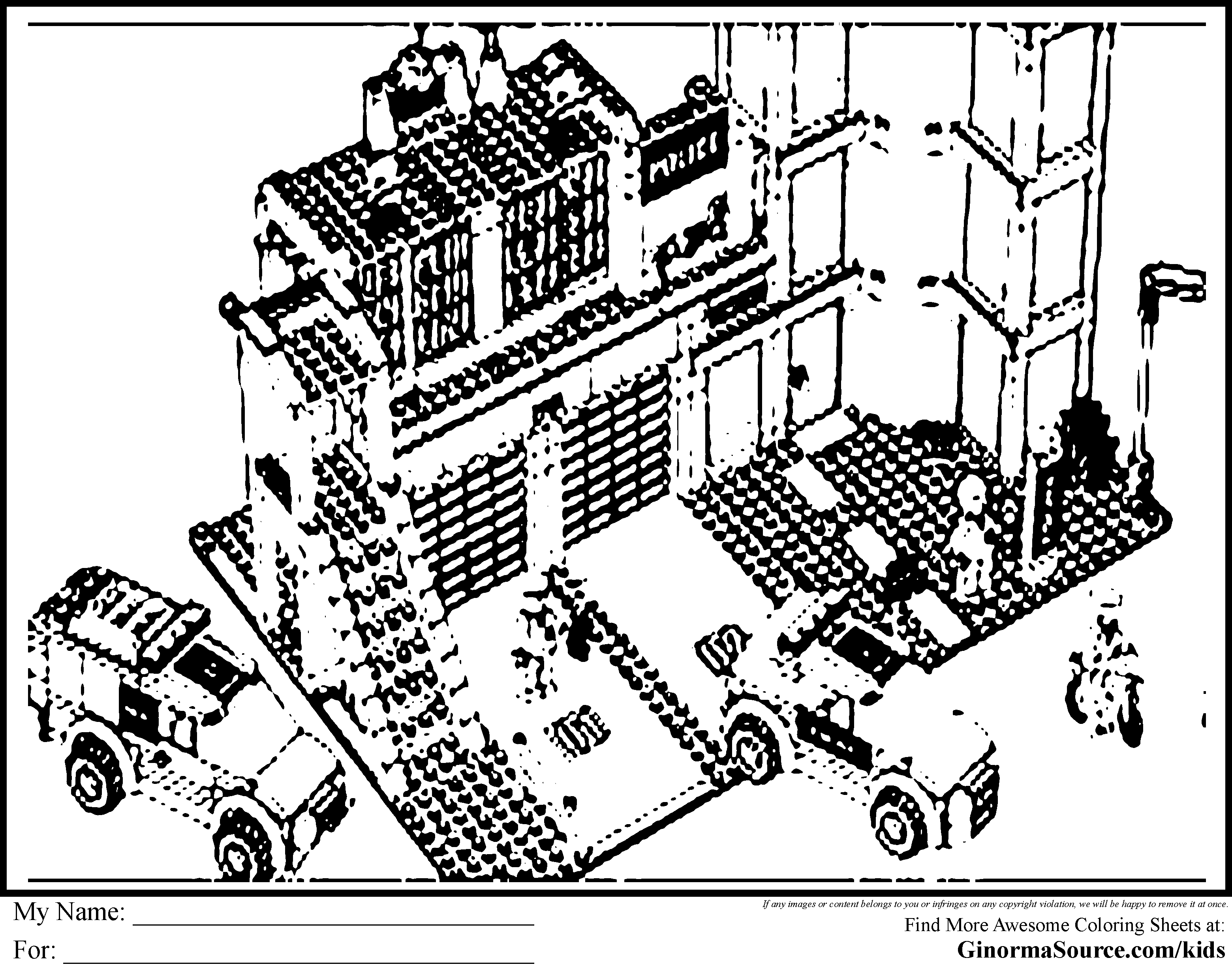 Coloring Page Lego City Coloring Home Lego City Printable Coloring Pages