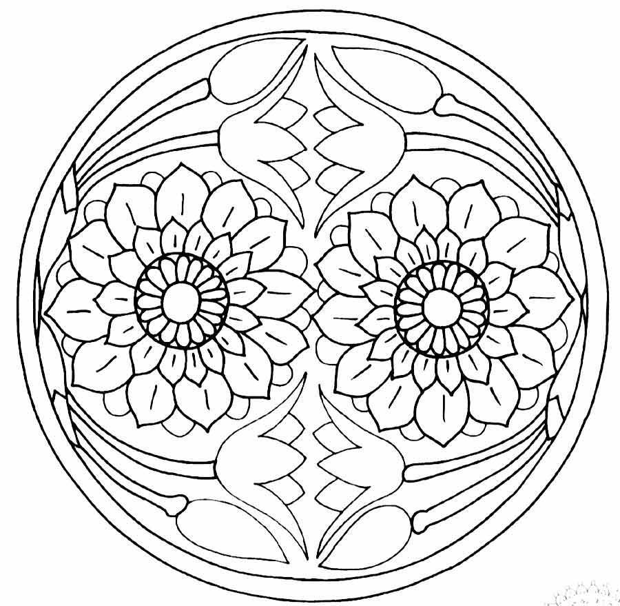 11 Pics Of Zen Mandala Coloring Pages
