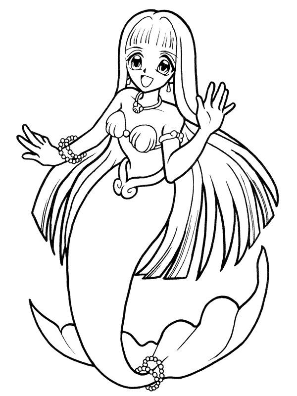 Printable Coloring Pages Mermaid Coloring Home Coloring Coloring