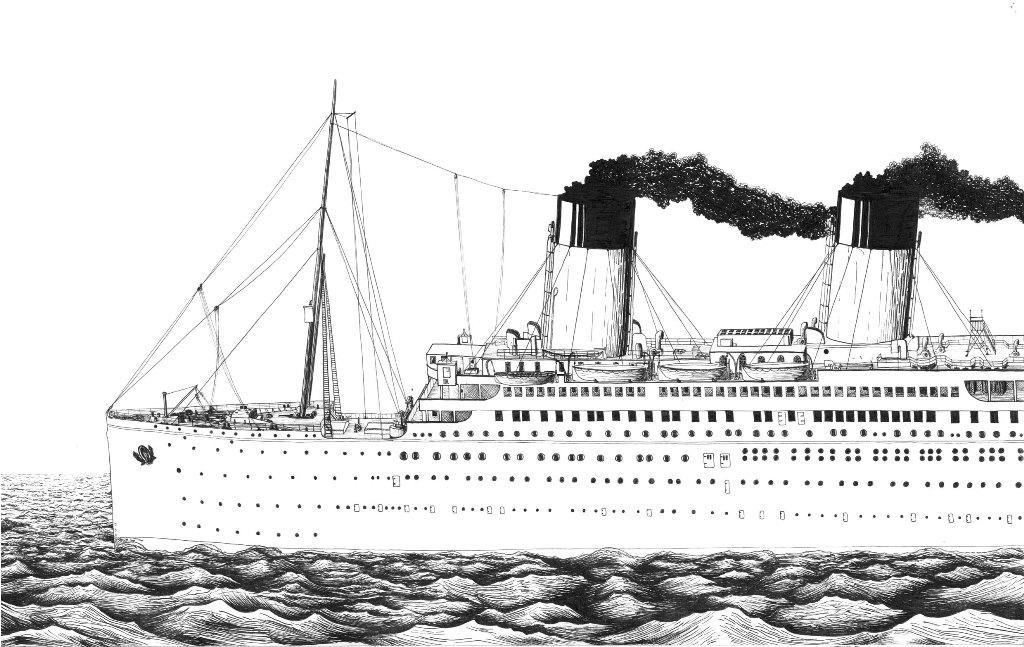Titanic Coloring Pages To Print