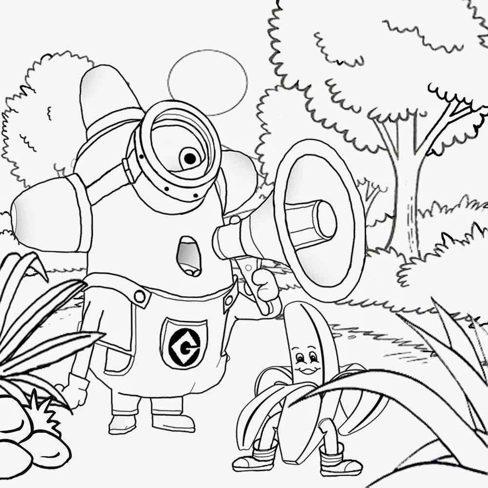 minions coloring pages banana split - photo#20