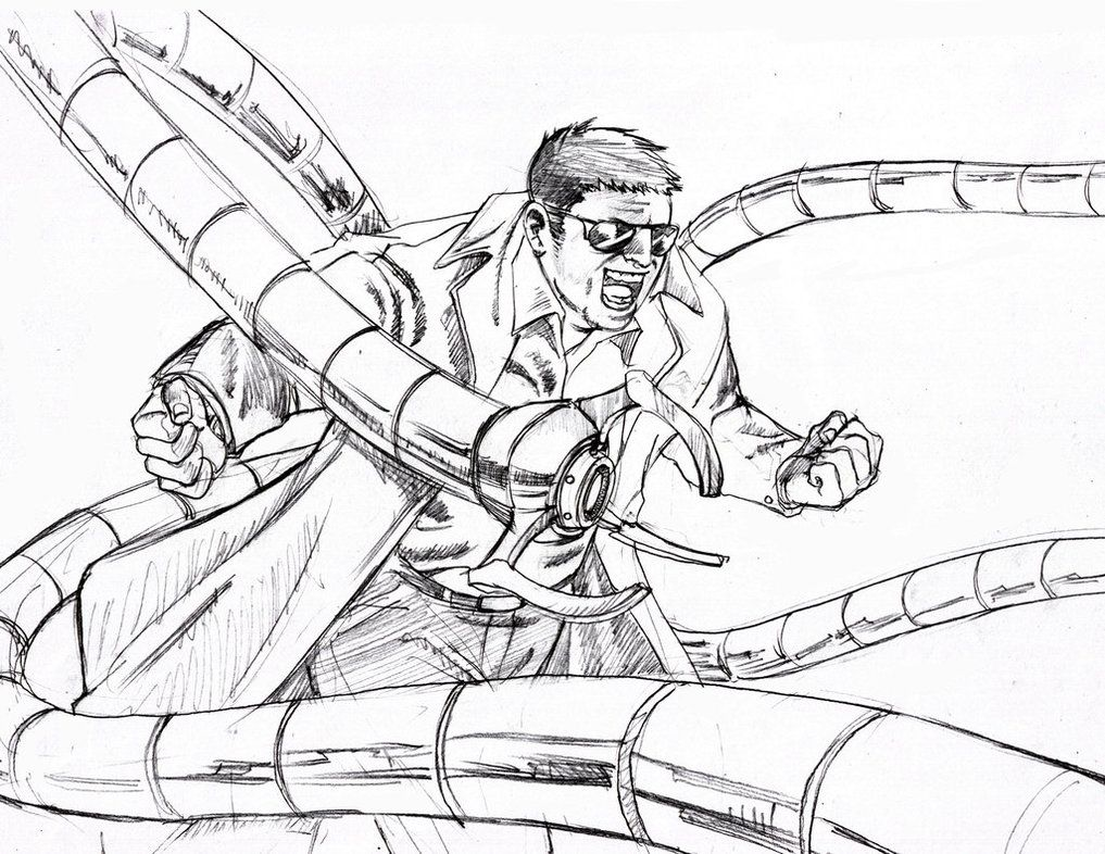 Doctor Octopus Coloring Pages  Coloring Page  Coloring Home