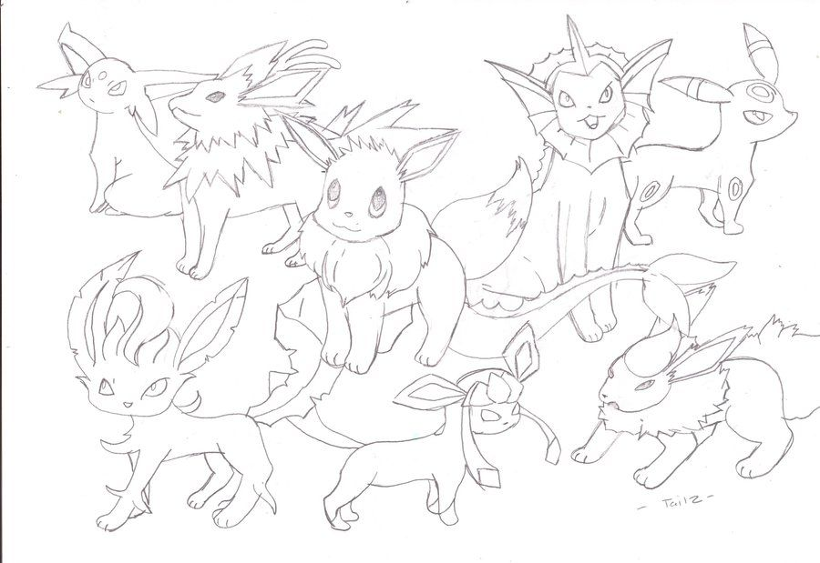 pokemon evolution coloring pages - photo#9