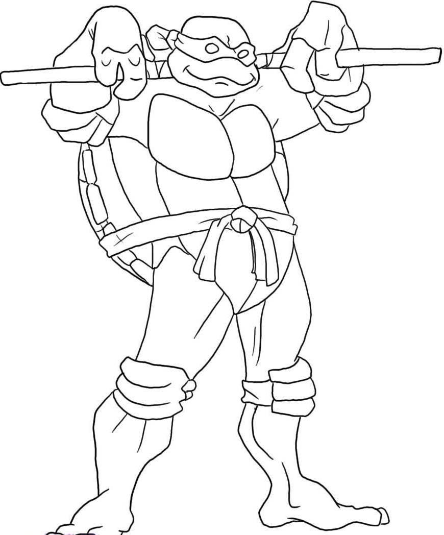 Ninja Turtles Coloring Pages Donatello High Quality Coloring